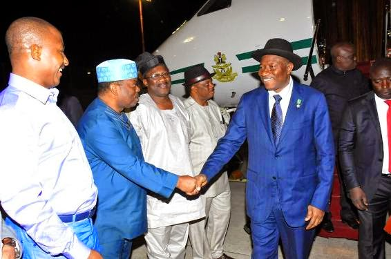 President Jonathan Arrives In Israel For Pilgrimage Suited Up In Blue