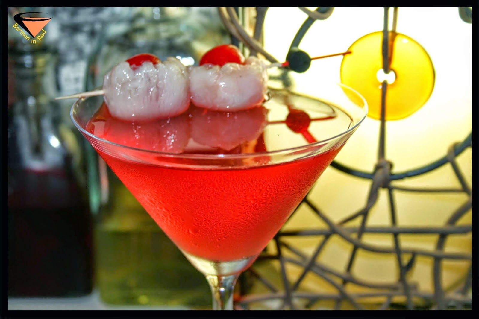 silver red cocktail