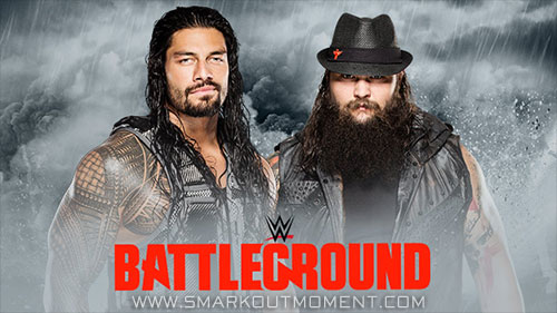 WWE Battleground 2015 PPV Roman Reigns vs Bray Wyatt