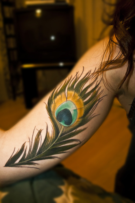 Peacock Feather Tattoo on Ribs Peacock Feather Tattoo Designs
