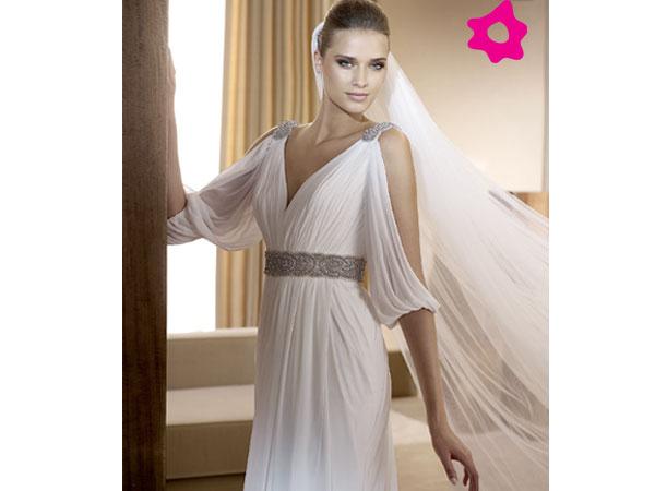 Vestidos de novia estilo griego para gorditas