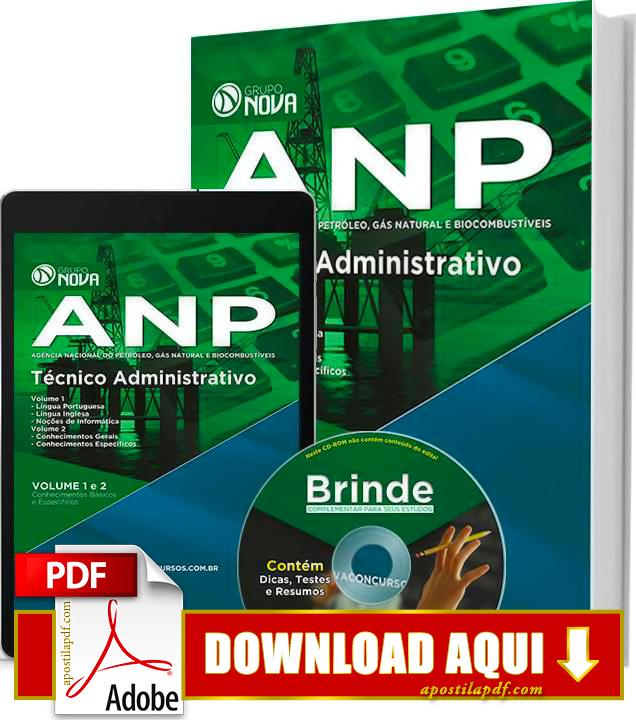 Apostila ANP 2015 Técnico Administrativo PDF Grátis Download