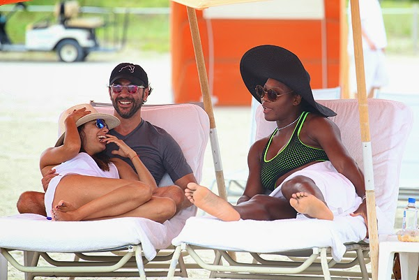 Summer on the gossipers Eva Longoria, Jose Baston and Serena Williams in Miami