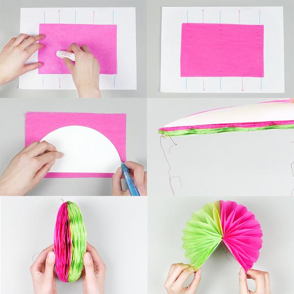 La f brica de secretos diy pompones con papel de seda - Pompones con papel de seda ...