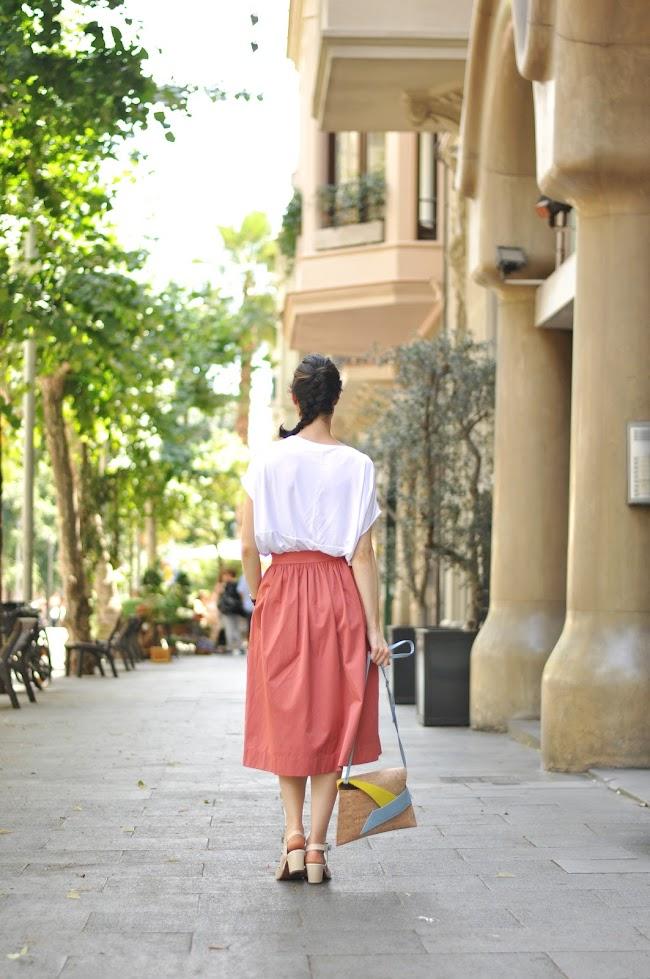 Midi skirt streetstyle