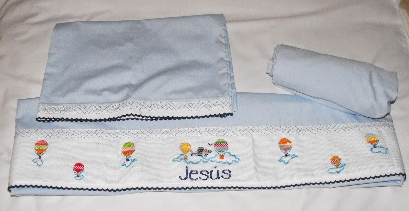 Regalos originales infantiles personalizados bordados para tu bebe juego de sabanas de cuna Sabanas para ninas