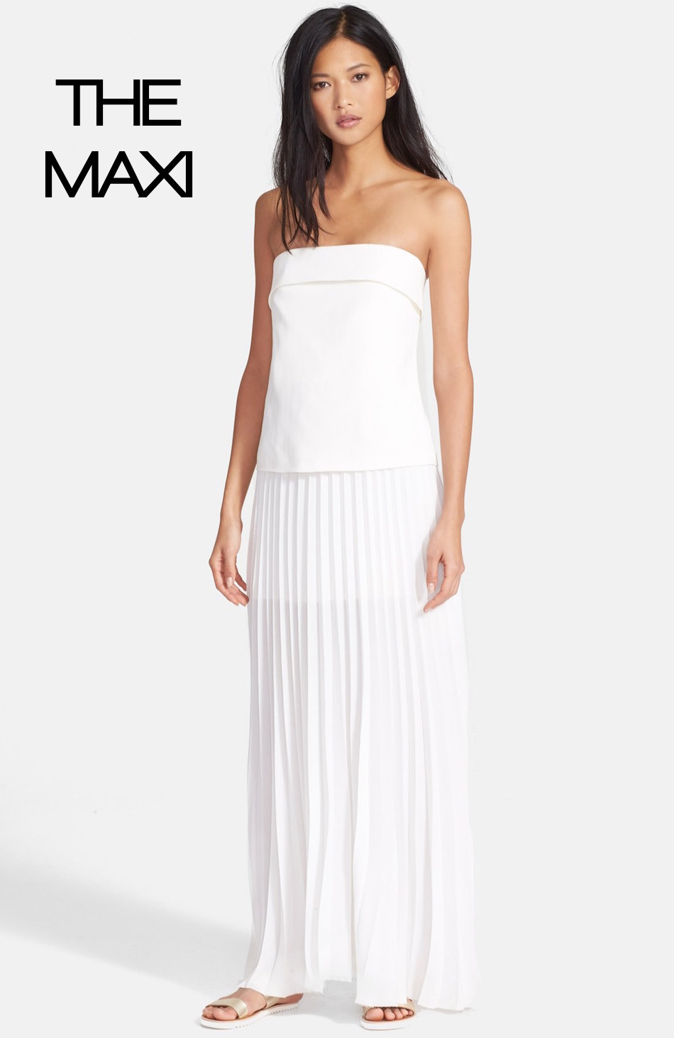 A.L.C. 'Brock' Strapless Crepe Maxi Dress