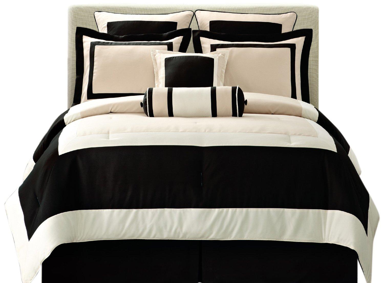 total fab black and ivory comforter bedding sets
