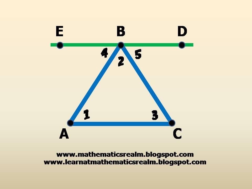 mathematics,geometry,angles,triangles,interior angles,exterior angles,parallel lines,IGCSE