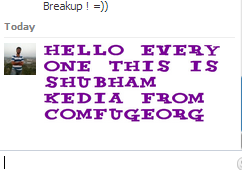 fonts for facebook chats
