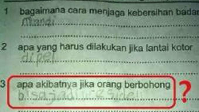 Siswa SD Ini Bilang Pembohong Bisa Jadi Presiden - Jokowi Yang Di Maksud??