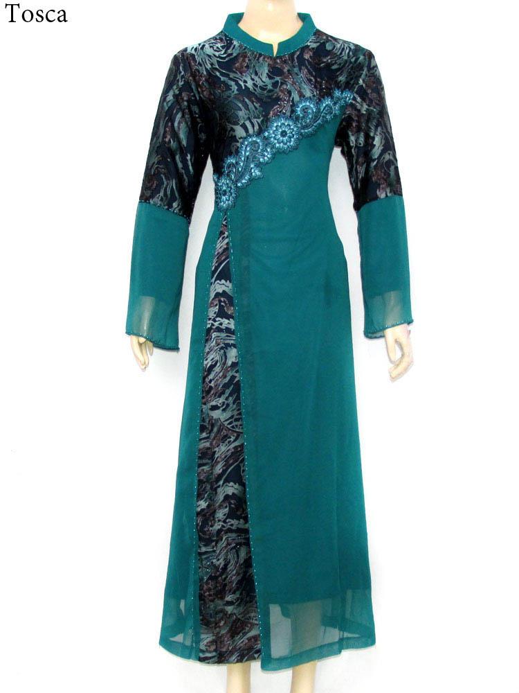 Gamis Cantik Muslimah Chiffon Gc356 Busana Pakaian Terbaru