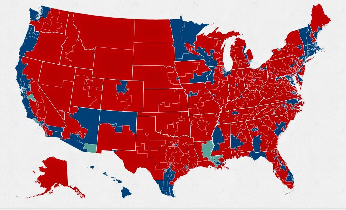 BeeLine November - Us house elections 2016 map