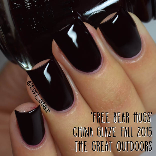 China Glaze The Great Outdoors Fall 2015 Free Bear Hugs
