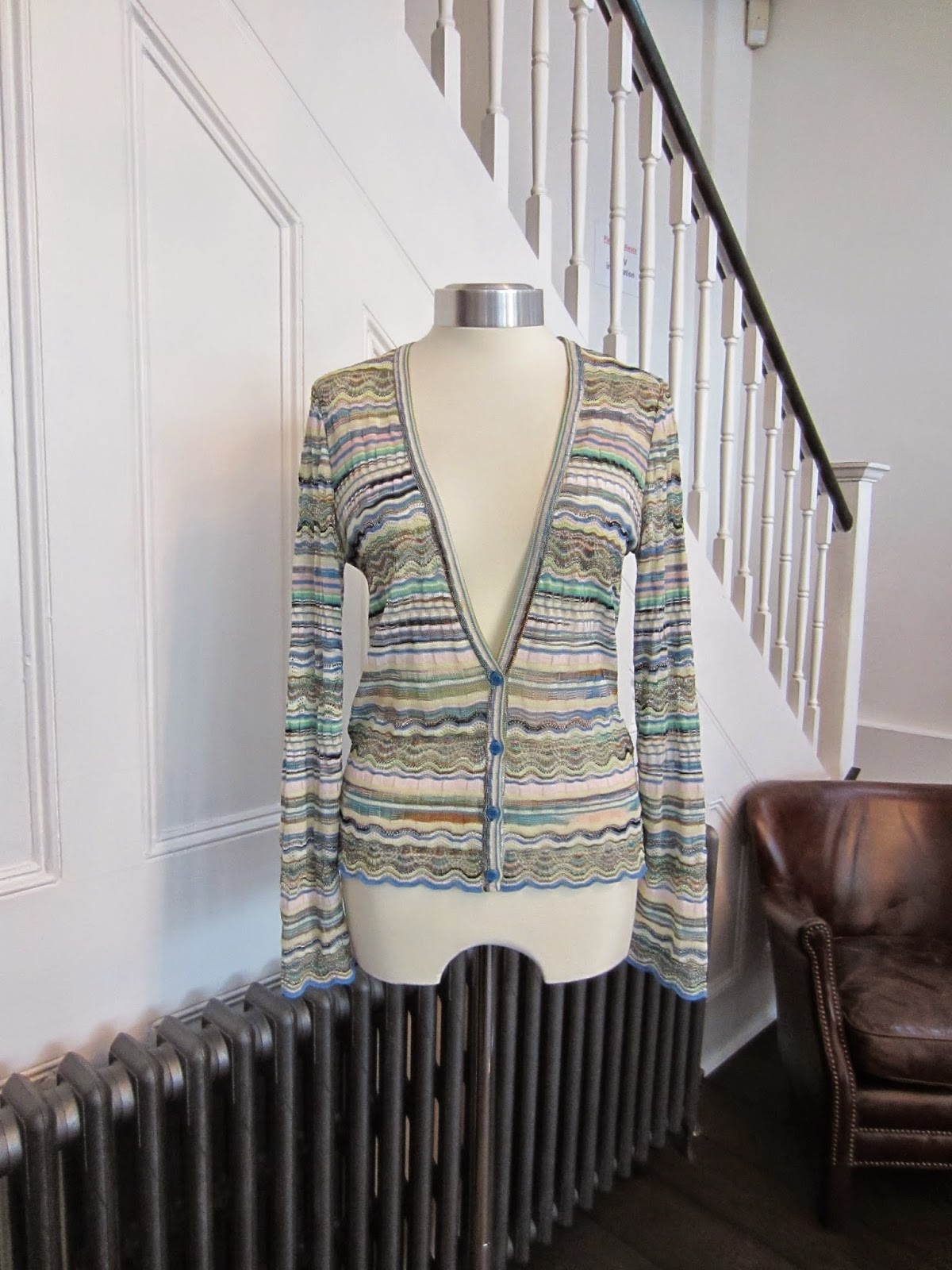 Missoni Blue/Green Cotton Cardigan