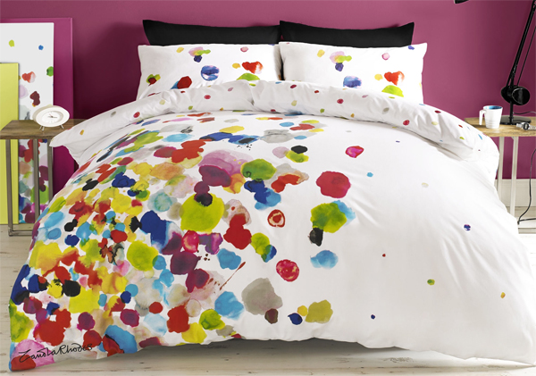 Zandra rodhes, bedding, bedline, sheets, colourful bedline, colourful bedding, designers bedline, designers bedding
