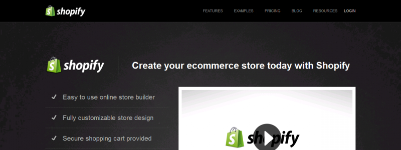 Shopify Website Builder Home Page