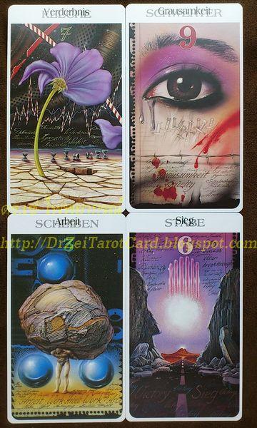 Röhrig Tarot Minor Cards ไพ่ยิปซี เจ็ดถ้วย Seven of Cups เก้าดาบ Nine Swords หกไม้เท้า Six Wands สามเหรียญ Three Disks ไพ่ทาโรต์ แปลไพ่ อ่านไพ่ ความหมาย