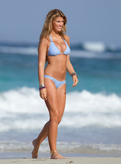 Amy Willerton  Bikini Candids on the beach