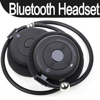 2.4GHz Fold Foldable Wireless Bluetooth Stereo Headset Headphone Earphone Black