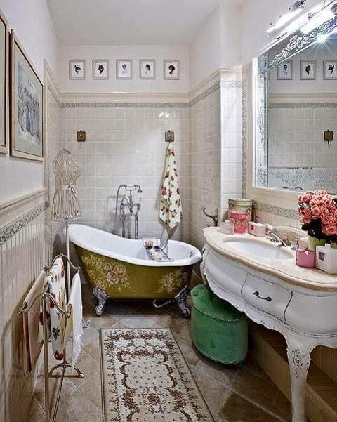 Tinas De Baño Vintage:Decorar el Baño con Tina y Lavamanos Vintage : Baños y Muebles