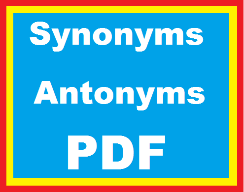 English synonyms and antonyms (PDF)