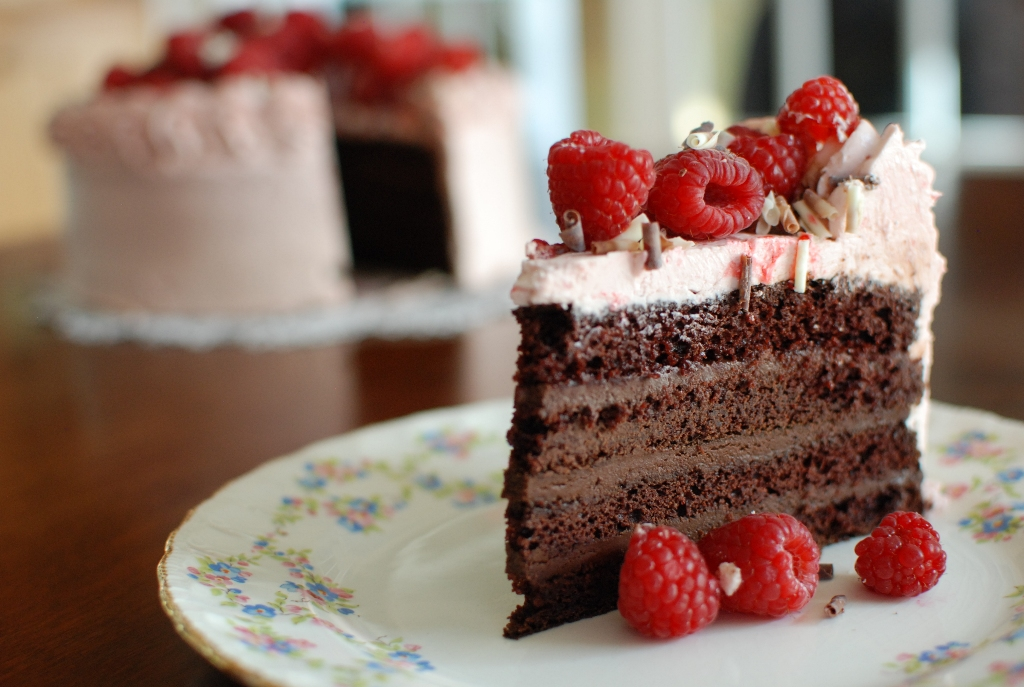 Simply So Good: Chocolate Layer Cake with Raspberry Buttercream