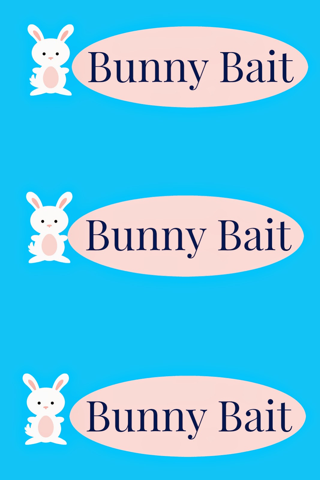 It's just a photo of Monster Bunny Bait Printable