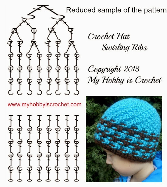 Crochet Hat Patterns Step By Step : My Hobby Is Crochet: Charted Pattern Crochet Hat Swirling ...