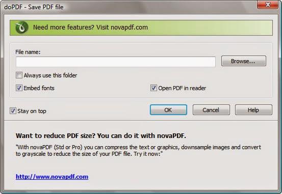 برنامج مجاني مميز لتحويل المستندات والملفات الي PDF بشكل تلقائي doPDF 7.3.398