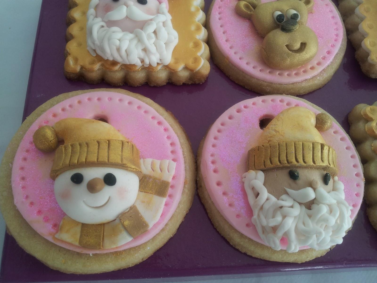 Galletas de Navidad con mucho glamour Tartas fondant galletas