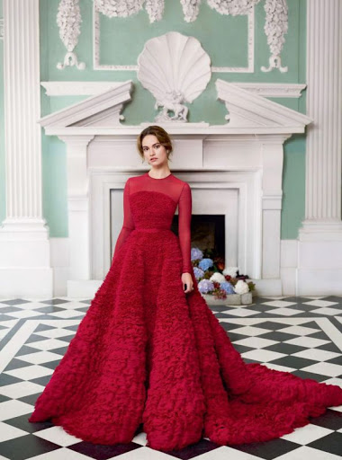 Lily James Harper's Bazaar