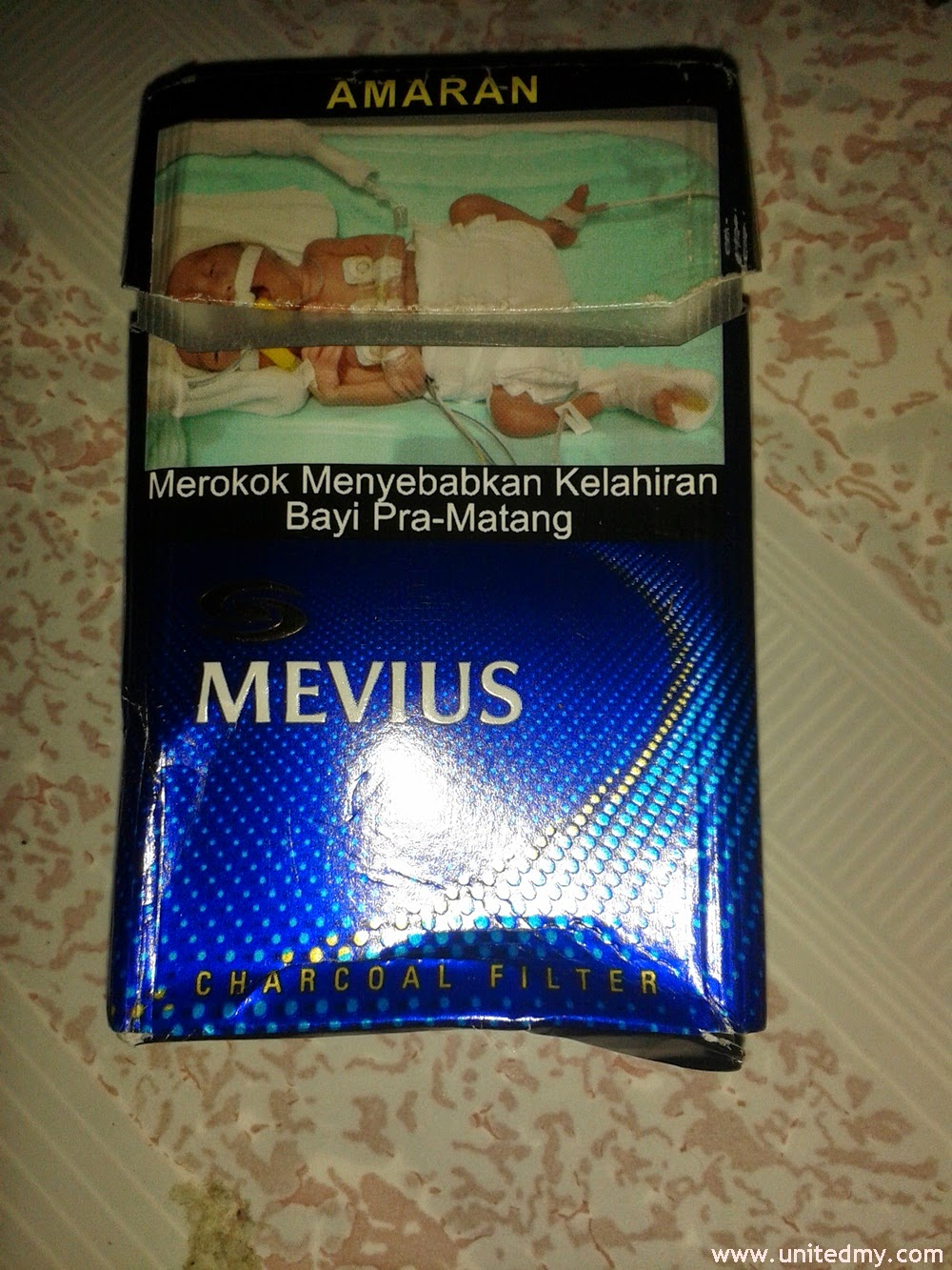 Mevius cigarette blue