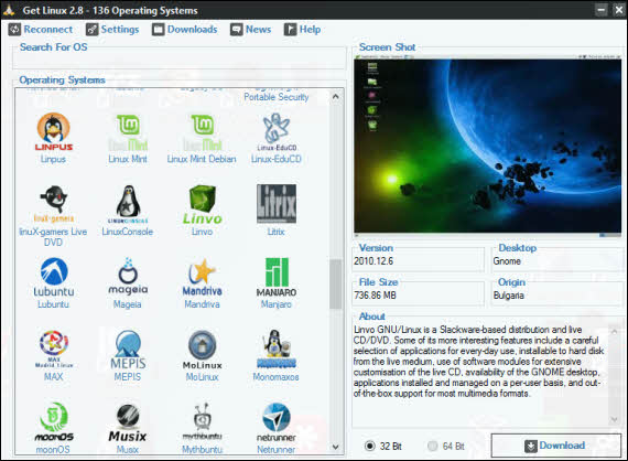 Descarga cualquier distro de Linux con Get Linux