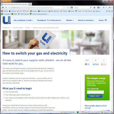 Screen shot of http://www.uswitch.com/gas-electricity/guides/how-to-switch-gas-and-electricity/.
