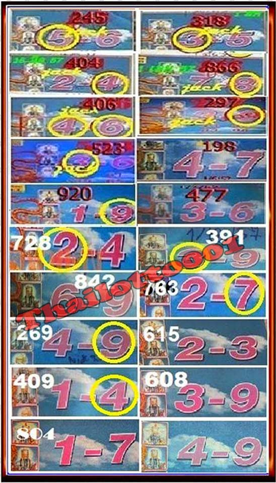 Thai lotto tip 001 thai lottery 3up dragon tip paper 01 12 2014