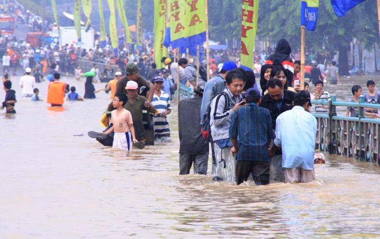 Sejumlah Kawasan di Jakarta Masih Teredam Air