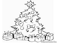 Mewarnai Gambar Kado Di Pohon Natal