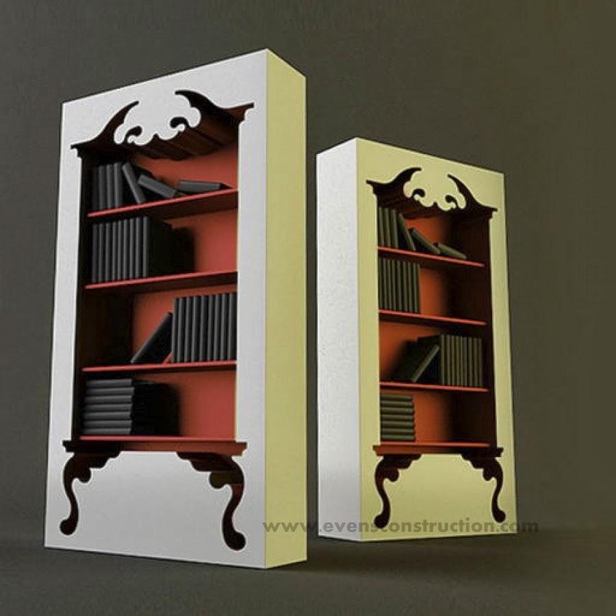 evens construction pvt ltd innovative design for bookshelves - innovative design for bookshelves