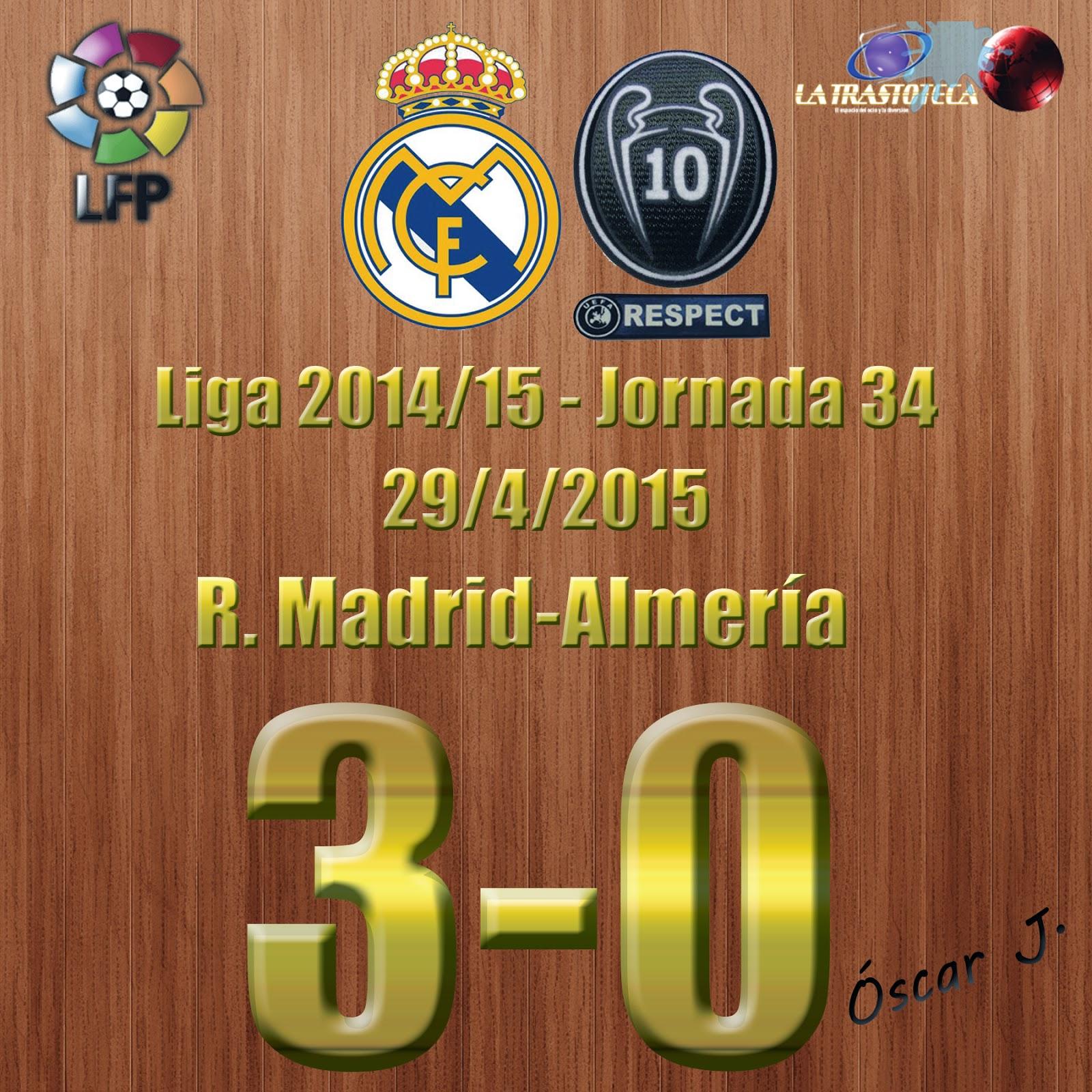 James Rodríguez (1-0) - Real Madrid 3-0 Almería - Liga 2014/15 - Jornada 34 - (29/4/2015)