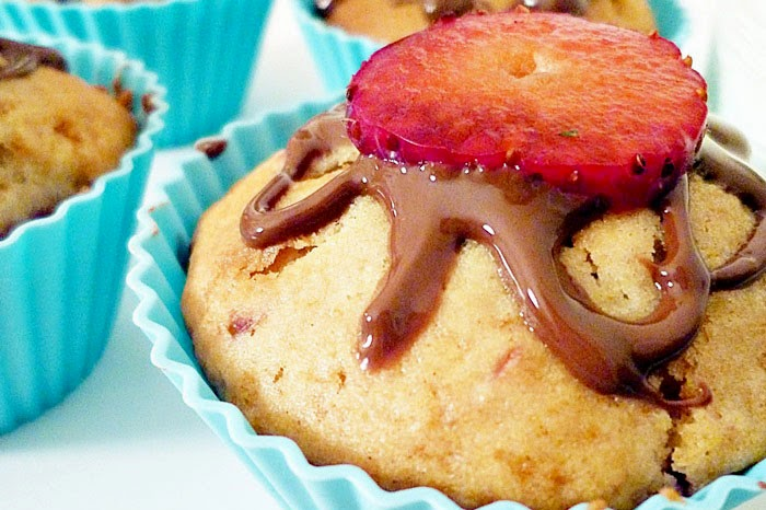 Erdbeer-Muffins mit Zimt