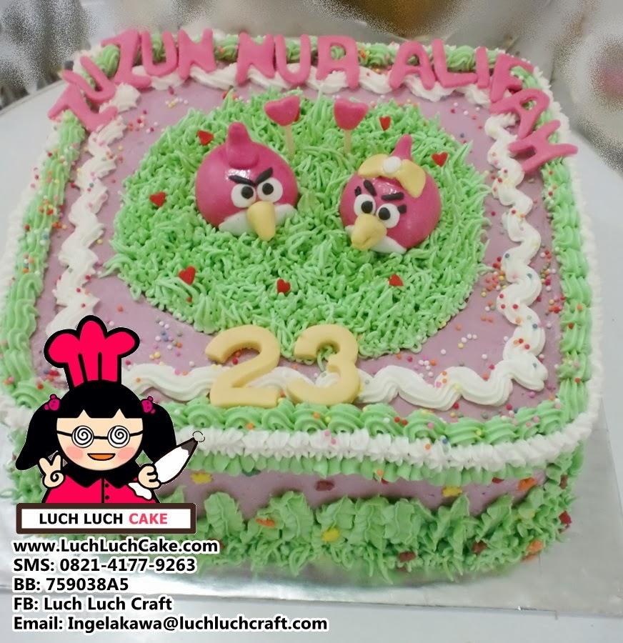 Kue Tart Angry Bird Couple Daerah Surabaya - Sidoarjo