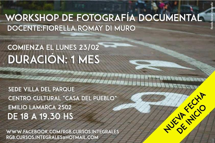El workshop de Fotografía Documental está dirigido a quienes quieran especializarse en documentalis