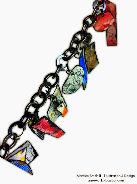 detail, Graffiti Charm Bracelet Tutorial by Martice Smith II