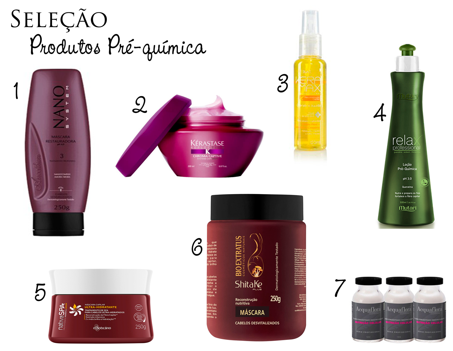 produtos, cabelo, tingidos, pré-química, tratamento