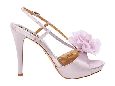 Badgley mischka shoes with flower