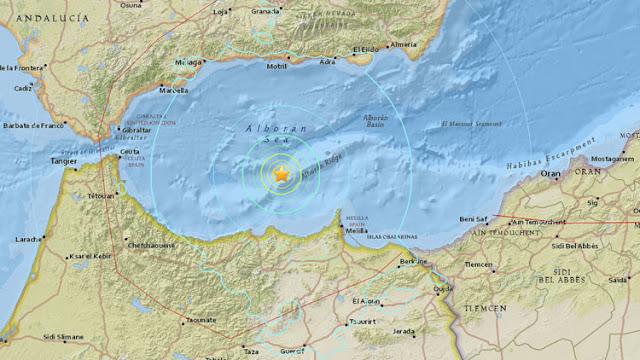 El epicentro se registró en el mar Mediterráneo, entre España y Marruecos