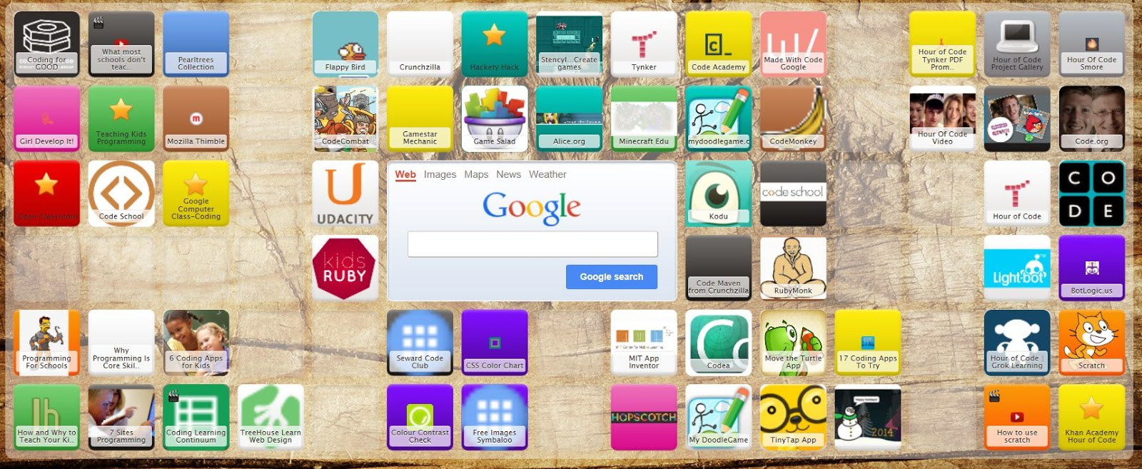 http://www.symbaloo.com/home/mix/coding-coding-coding