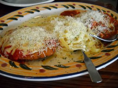 Slowly Slimming Sharon Favorite Restaurant Meals Olive Garden Capellini Pomodoro