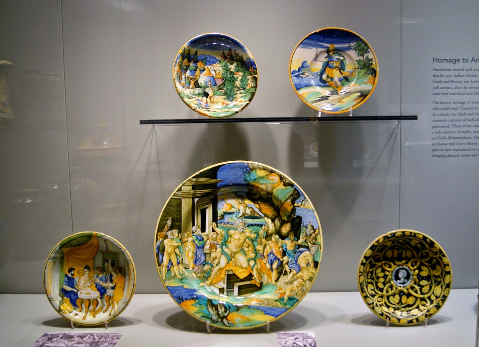 Gardiner Museum of Ceramic Art in Toronto, Artmatters, Culture, Ontario, Canada, MelaniePs, The Purple Scarf, Camp Fires, Exhibit, Exhibition, Italian Renaissance